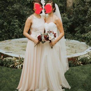 Lulus Blush Bridesmaid Dress